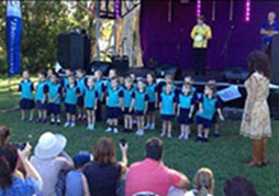 Prep B and C sing at Relay For Life